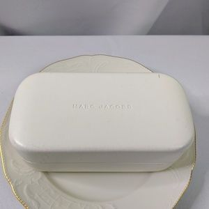 Marc Jacobs White Hard Sunglasses Case